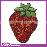 Wholesale Red Berries Design Iron-on Embroidery Sequin Patches
