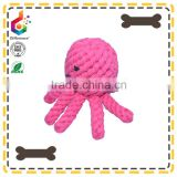 Handmade octopus shape cotten rope dog chew toy