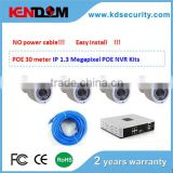 POE 100meter 4CH POE CCTV Kit H.264 NVR HD 720P Camera IP Surveillance System new products for 2015