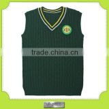 The child's cashmere / sweater vest school students, V collar head sweater green wind Institute                                                                         Quality Choice