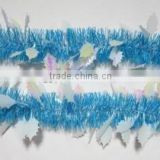 2015 Lake Blue Color PET Christmas Tinsel Garland for Party Decorations