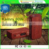 high power kamry wood tube ecig 80w e-health cigarette,hi-tech e-cigarette kamry 80w TC VW e cigarette mod