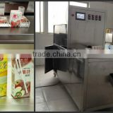 cangzhou factory supply 250ml slim shape juice carton with straw filling packing machine