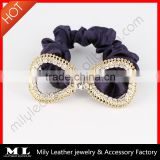 Hot sale elegant cheap hair band ponytail holder clip in hair extension MY-033