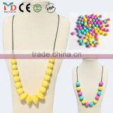 cheap custom silicon rubber necklace colorful beads necklace