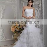 New Elegant White Sweetheart Sheath Beaded Floor Length Wedding Dress xyy04-067