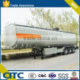 normally 30-50 cubic meters capacity fuel tanker truck trailer with mechanical suspension, tri axle fuel tank semi trailer