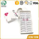 Promotional superior OEM eyelash paper box eco friendly wholesale paper box with pvc clear widow