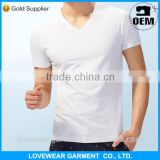 wholesale high quality plain 100% cotton white t shirts, 100% plain blank cotton t shirt manufacturer