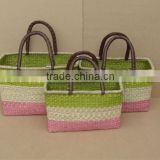 Shopping Seagrass Basket Set of 3 With Handles