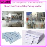 Colunte alcohol swab making machine