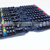 Rubber keypad,rubber keypad with carbon pill,PU coating rubber keypad,silicone rubber keypad transparent,rubber button keypad
