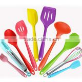eco-friendly 10-piece silicone utensil set,Heat Resistant silicone utensil set,Non Stick silicone utensil set