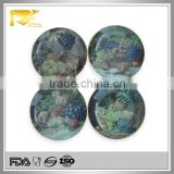 home decor 8 '' round fruit photo printing ceramic plate, decorative ceramic wall plates, ceramic taco plates