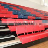 sport facility retractable tribune telescopic seating flex grandstand. mobile