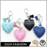 Wholesale Fashion Types Heart Leather Shape Tassel Car Keychain