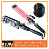 New Style Triple Hair Curler Roller with Various sizes, curling iron with interchangable barrel