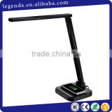 Shineda Amazon FBA service LED Desk Lamp with Qi Wireless Charging Plate, Rotatable Neck and Touch-Sensitive Controller