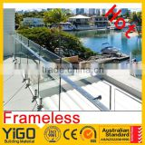 balcony guarding mesh/deck glass frameless railing                                                                         Quality Choice