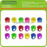 Stock Flashing Colorful LED Light Up Bumpy Jelly Rebber Rings Finger Toy, Light Up Rings