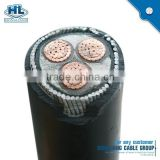 black PVC sheath XLPE insulation steel wire armored copper power cable YJV32- 0.6/1KV -3*4