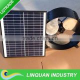 12 inch 35W Solar gable fan with solar battery system