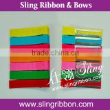 Double Prong Aligator Hair Clips With Grosgrain Ribbon