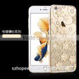 Luxury TPU Soft Crystal Bling Diamond Case Back Cover Skin Mirror Phone Case for Iphone Models