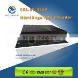 Small size hd iptv encoder decoder 1ch for point to point transmitting system COL-D7101HV