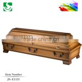 New style mahogany solid wood funeral casket and coffin