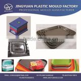 Huangyan OEM custom plastic cup dish mould manufacturer / household plastic injection coffee dish mold supplier