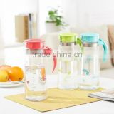 1.5L Glass Fruit Infused Water Iced Tea Pitcher with plastic lid