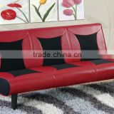 Most recently developed leather and mesh fabric sofa bed with comfortable feel