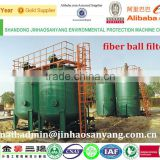 Fiber ball filter device for oily waste water treatment