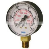 Bourdon Tube Pressure Gauge Type 111.10, ABS Plastic or Painted Steel Case Standard Series - Lower Mount