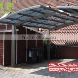Easy to assemble outdoor Aluminum Double Side Cantilever Carport With Polycarbonate Sheet