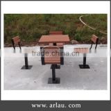 Arlau outdoor wooden beer table and bench set