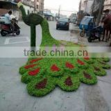 life size large top party artificial landscape uv resin plastic animal leaf alphabet letter peacock statue E08 23X1