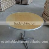 plywood used hotel reception banquet cheap round wooden folding dining table for party