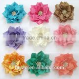 decorative fabric flower for girl's dresse have diffrrent colors