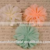 "2.75"" Scallop Ruffuled Ballerina Chiffon Petal Flowers Baby Headbands flower Infant Headbands QueenBaby"