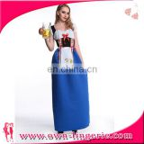 Beer Maid Peasant Dress beer maid blue garden girl fancy dress costume long octoberfest beer maid costume