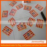 custom PE held hand flag banner
