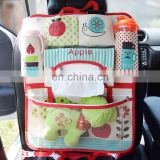 New design cartoon multi-function car seat back storage bags