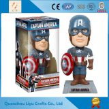 Resin Action American Captain Bobble Head Souvenir
