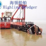 discharge distance 2000m hydraulic cutter suction sand dredger vessel with low price