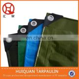 140gsm waterproof with pp ropes and eyelets standard tarpaulin size