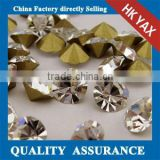 machine cut chatons glass,glass chatons machine cut,machine cut glasss chatons for decoration dress