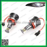 20W H8 R4 LED Angel Eye Halo Bulb Light 6500K for E92 E93 E90 X5 White Error Free about 1200Lm (each)