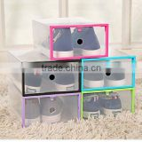New Design Witorange Metal Edge Transparent Box Storage Box plastic shoes storage box                                                                         Quality Choice